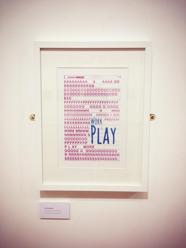 Overworked piece shown at Crown Street Gallery, Darlington