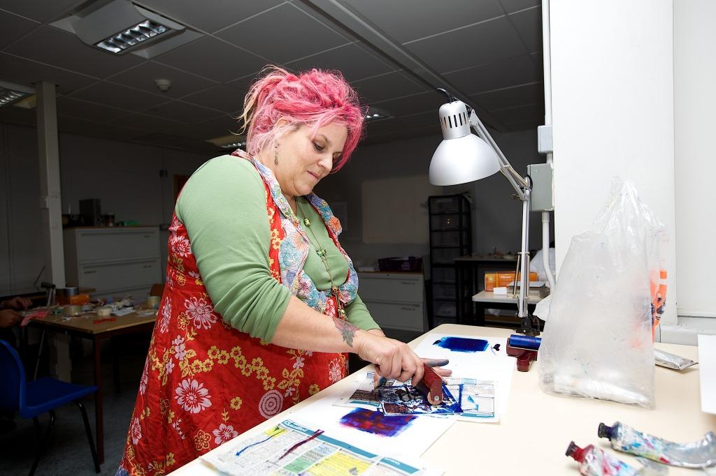 NN Open Studios 2014 Print workshop1 taken by Kev Howard
