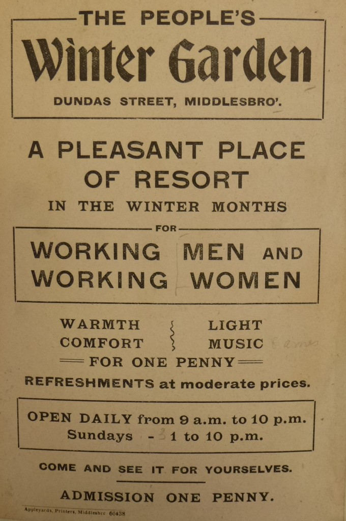 Winter Garden Poster courtesy of Newcastle University Special Collections