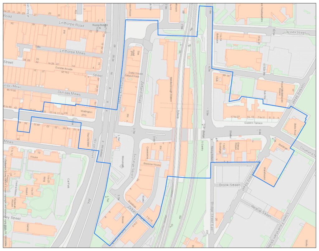 Middlesbrough Historic Quarter Map